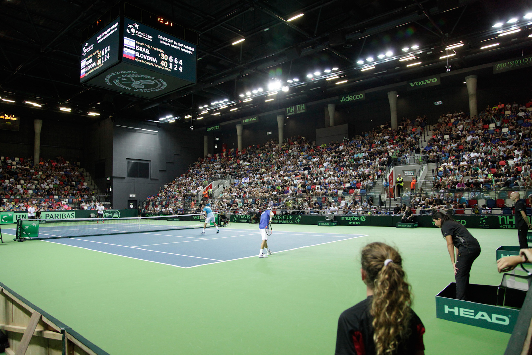 Davis Cup competition in Tel Aviv   Courtesy of the Israel Tennis Federation